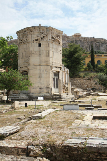 The Tower of the Winds (the Horologion) in Athens, Greece
