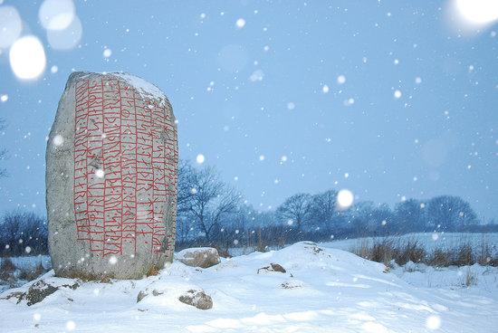 Runestone in Snowfall