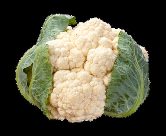 Fresh White Head of Cauliflower
