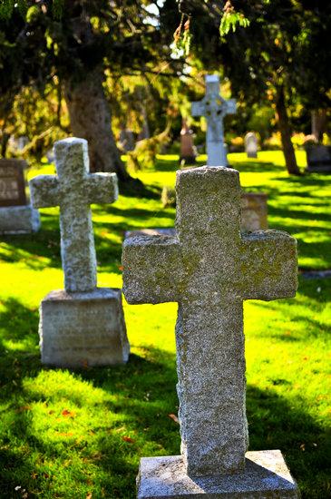 Graveyard with Tombstones