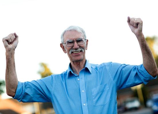 Man Ejoying His Retirement