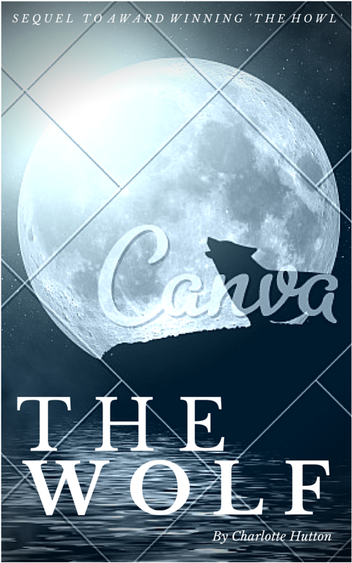 Book Cover Canva : Howling wolf book cover canva