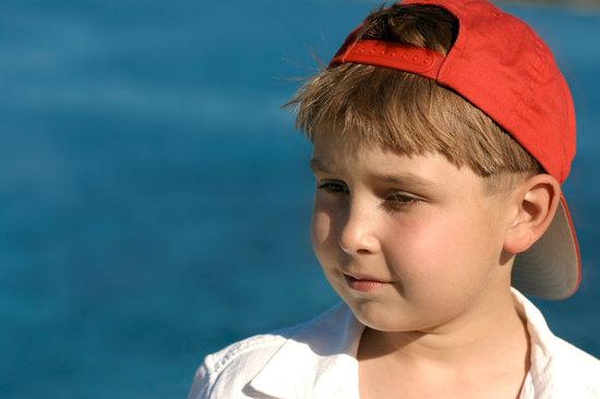 Little Boy by an Ocean