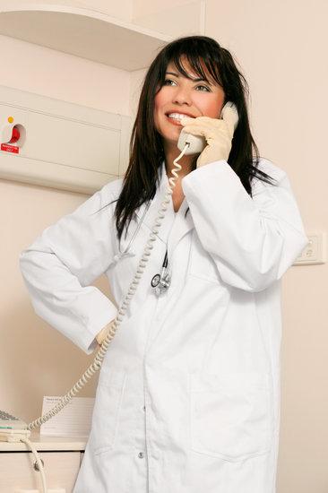 Medical Doctor Nurse on Phone