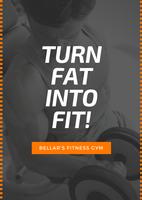 Black Orange Gym Fitness Advertisement Flyer