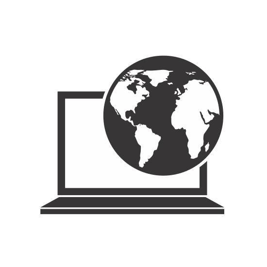 Laptop and Globe Icon