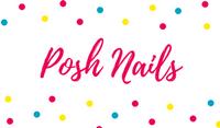 Colorful Polka Border Nail Salon Business Card