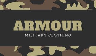 Brown camo military clothing business card templates by canva brown camo military clothing business card colourmoves