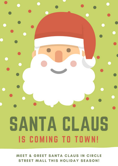 Green red white santa claus illustration holiday event flyer green red white santa claus illustration holiday event flyer m4hsunfo