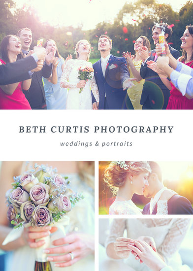 Simple Grid Wedding Photography Flyer  Templates By Canva