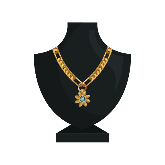 Mannequin with Jewelry Necklace