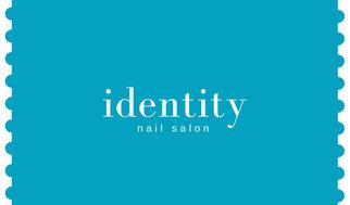 Light Sea Green Stamp Edge Nail Salon Business Card