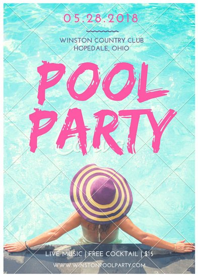 Flyer templates canva - How to make a pool party ...