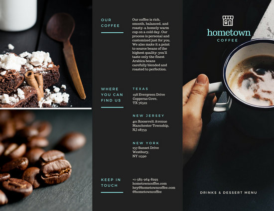 Coffee Shop Brochure  Templates By Canva