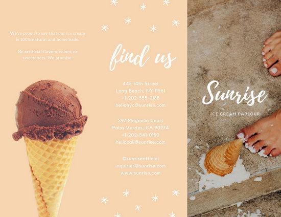 Ice Cream Parlour Brochure  Templates