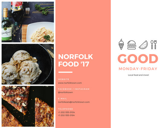 festival brochure design - food festival brochure templates by canva