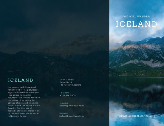 Iceland Travel Brochure  Templates