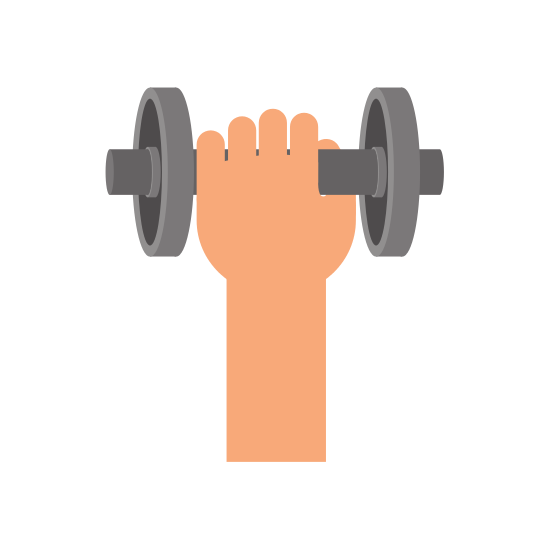 Weight and Hand Icon