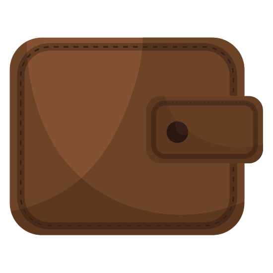 Brown Leather Classic Wallet Icon