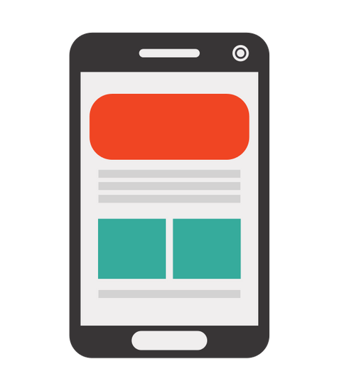 Cellphone Web Layout Icon