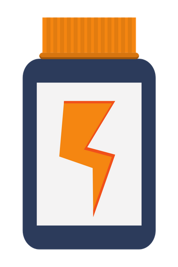 Dietary Supplement with Lightning Ray Icon