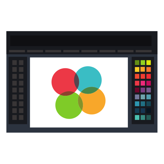 Graphic Design Tool Isolated Icon.