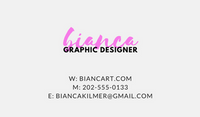Clean Neon Graphic Designer Business Card