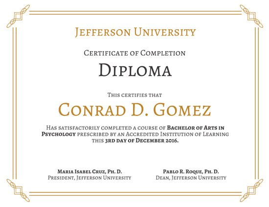 College Certificate Designs Www Imgkid Com The Image
