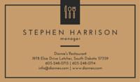 Minimalist Restaurant Business Card