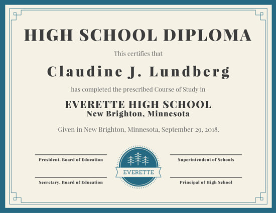college diploma certificate