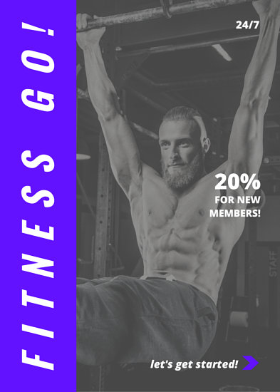 Blue Fitness Flyer