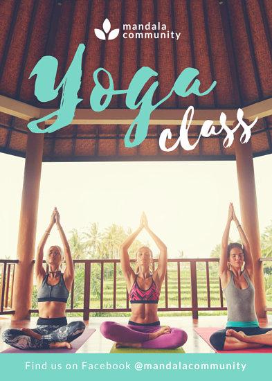 mint yoga fitness flyer