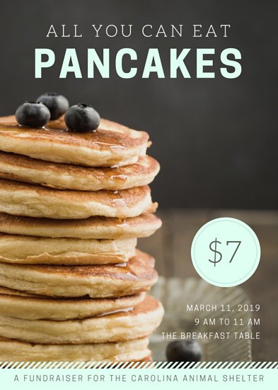Pancake Breakfast Fundraiser Flyer Templates By Canva