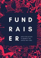 Red Illustrated Floral Art Fundraiser Flyer