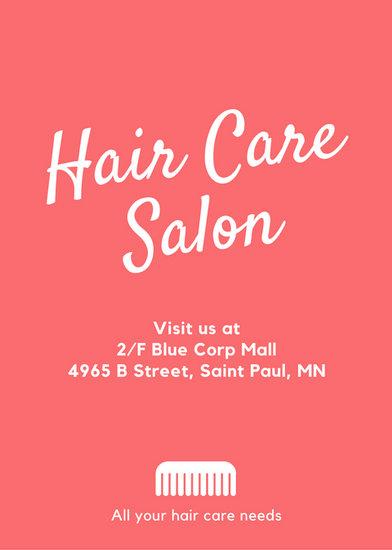 Hair Salon Flyer Templates By Canva
