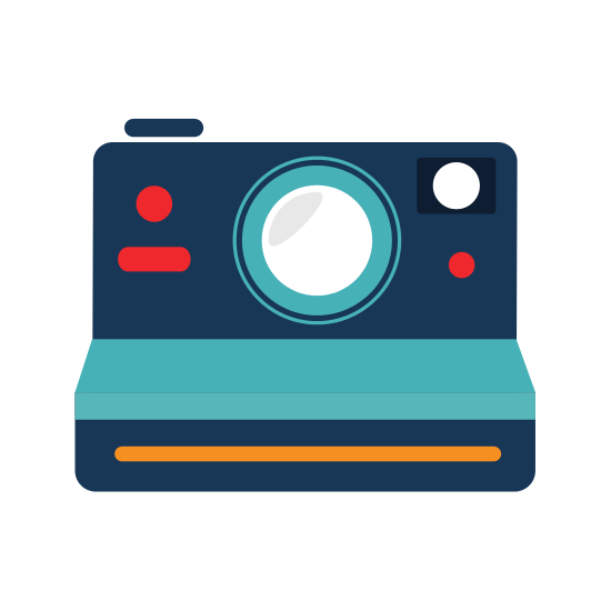 Vintage Photographic Camera Icon Vector Illustration