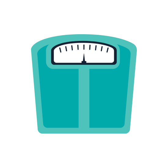 Scale Fitness Healthy Lifestyle Icon. Vector Graphic