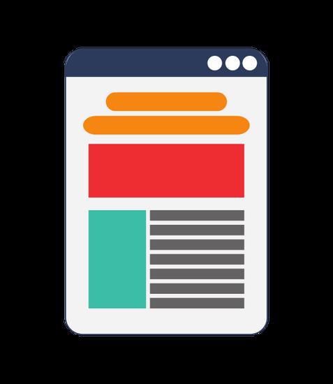 Single Web Layout Icon