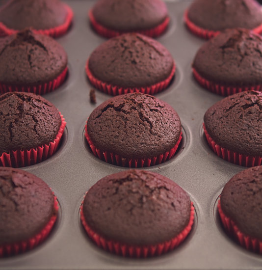 Cupcakes in Oven Tray