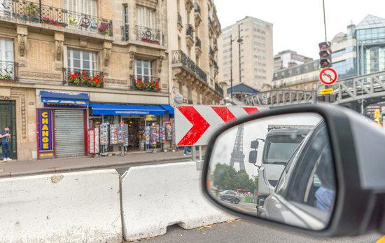 Leaving Paris by Car