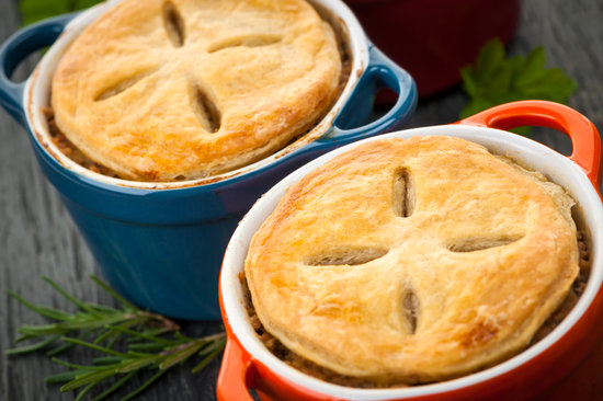 Homemade Potpies in the Container