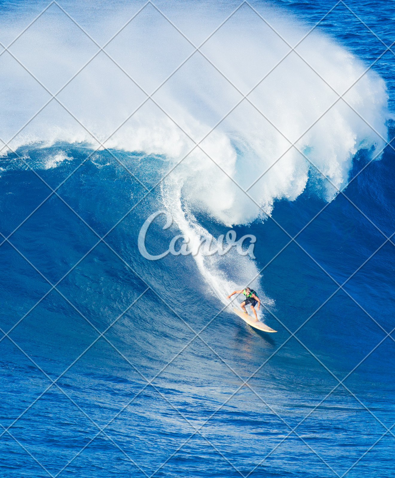 Surfer Riding Giant Wave Photos By Canva