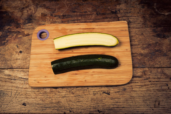 Courgette on Chopping Board