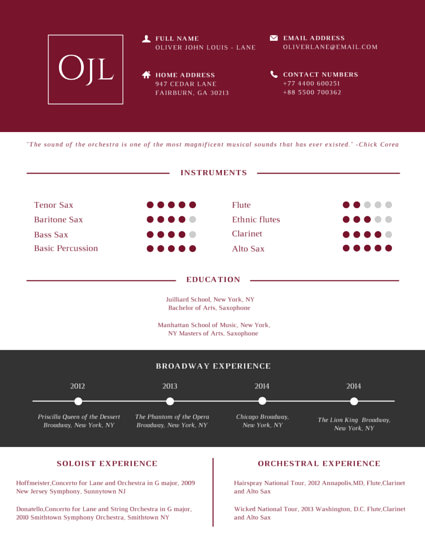Hair And Makeup Artist Resume Templates By Canva