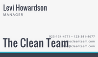 Blue Broom Cleaning Business Card