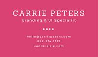 Magenta Speech Bubble Creative Business Card