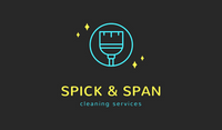 Blue and Yellow Broom Icon Cleaning Business Card