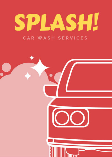 Yellow Splash Car Wash Flyer Templates By Canva