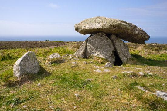 Chun Quoit Neolithic Burial Chamber, Cornwall England