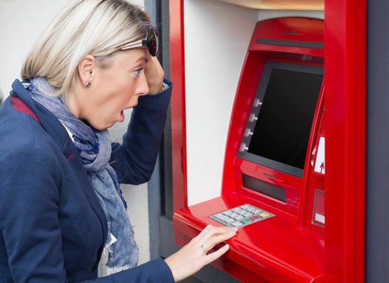 Shock Woman in Atm
